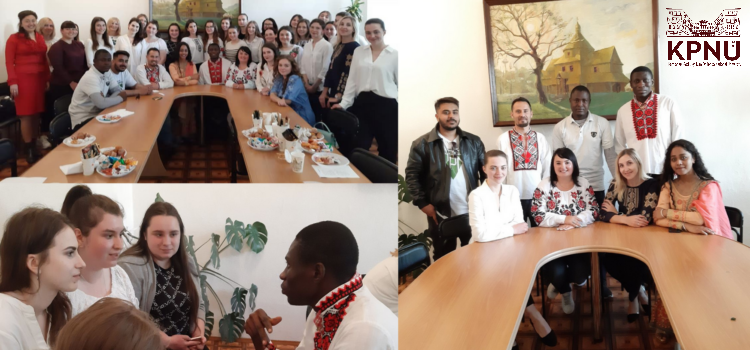 A round table with the K-PNU students and international students of the Preparatory Department