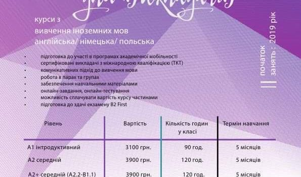 FOREIGN LANGUAGE COURSES FOR TEACHERS