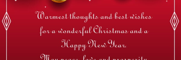 NEW YEAR GREETINGS OF THE RECTOR OF THE UNIVERSITY